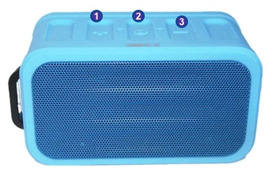 SoundStage Aqua waterproof bluetooth speaker button layout