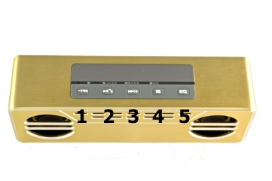 Bluetooth Stereo Speakers SoundStage Essence Button Layout